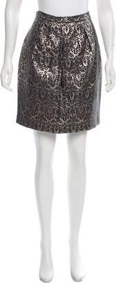 Megan Park Metallic Brocade Skirt w/ Tags