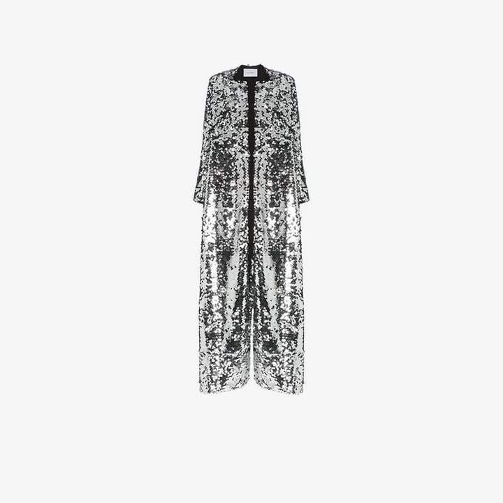 We Are Leone sequin embellished maxi coat