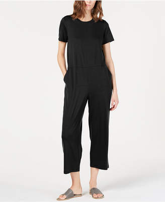 Eileen Fisher Round-Neck Tencel Jumpsuit, Regular & Petite