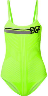 Prada Paneled Tech-jersey Bodysuit - Green