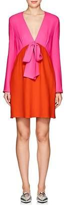 Lisa Perry WOMEN'S COLORBLOCKED CREPE SHEATH DRESS - PINK/ORANGE SIZE 8