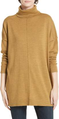 Eileen Fisher Merino Wool Boxy Turtleneck Sweater