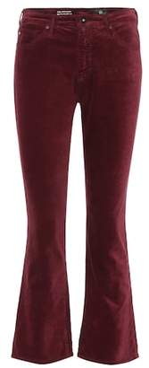 AG Jeans The Jodi Crop velvet trousers