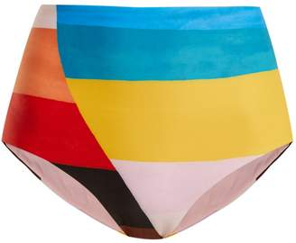 Mara Hoffman Lydia plateau-print high-waisted bikini briefs