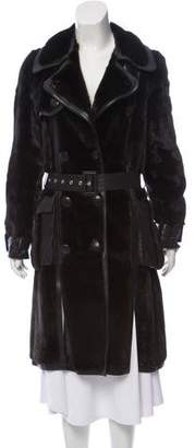 Christian Dior Hyde Park Mink Long Coat