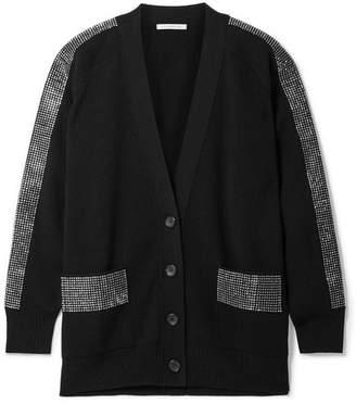 Christopher Kane Crystal-embellished Wool Cardigan - Black