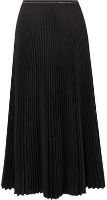 Prada - Pleated Twill Midi Skirt - Black