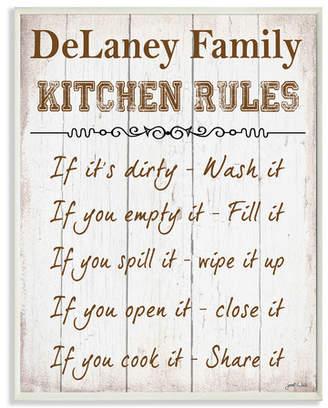 DAY Birger et Mikkelsen Stupell Industries Personalized Kitchen Rules Textual Art Plaque