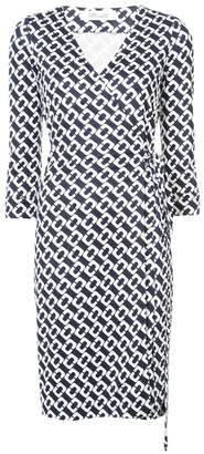 Diane von Furstenberg chain print wrap dress