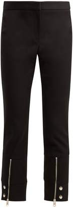 Alexander McQueen Mid-rise cotton-blend cropped trousers