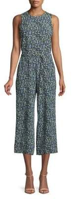 MICHAEL Michael Kors Floral Print Sleeveless Jumpsuit