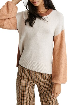 Madewell Payton Coziest Yarn Colorblock Pullover