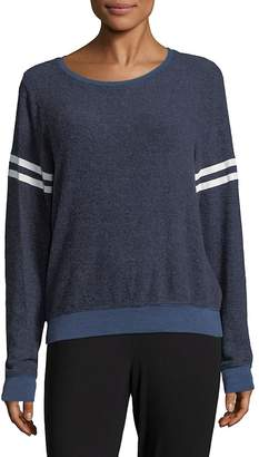 Wildfox Couture Women's Stripe Crewneck Sweater - Opium Blue, Size xs [x-small]