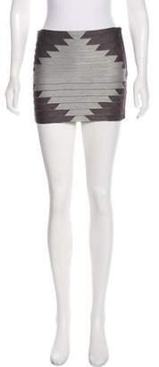 Haute Hippie Textured Mini Skirt