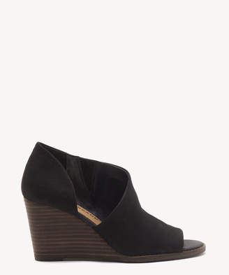 Lucky Brand Women's Jaxy Wedges Bootie Black Size 5 Suede From Sole Society