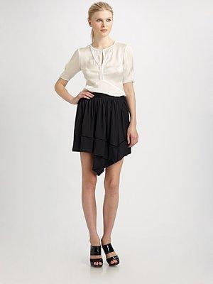 Flip Silk Jersey Skirt