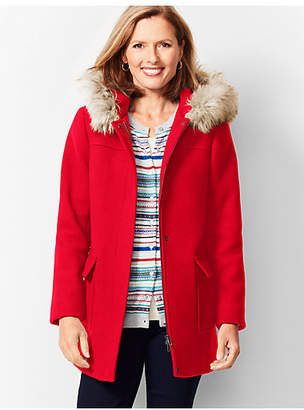 Talbots Fur-Trim Hooded Jacket