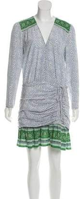 Veronica Beard Silk Long Sleeve Mini Dress