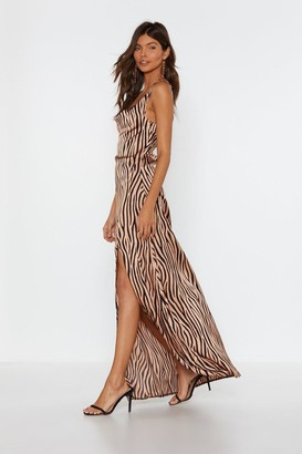 Nasty Gal It's Not All Black and White Zebra Dress