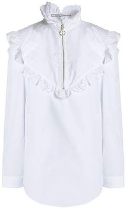 Nina Ricci Scalloped Cotton-Poplin Shirt