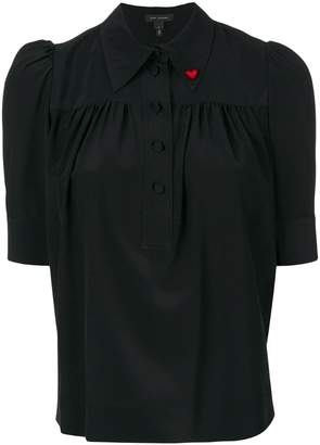 Marc Jacobs heart pin blouse