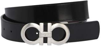 Salvatore Ferragamo 35mm Shiny Lux Reversible Leather Belt