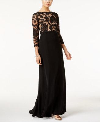 Tadashi Shoji Lace Illusion Gown $428 thestylecure.com