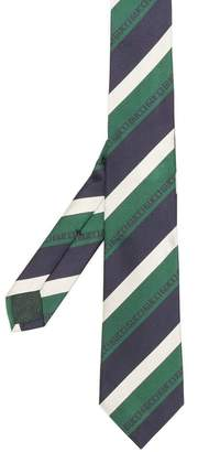Gucci pinstripe silk tie