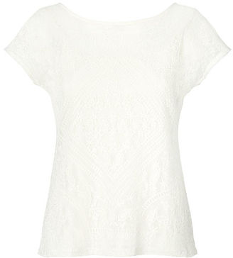 Ralph Lauren Embroidered Sheer Top $89.50 thestylecure.com