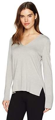 Anne Klein Women's Ribbed Hem Vneck Sweater