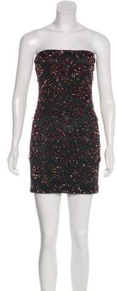 AllSaints Beaded Strapless Dress