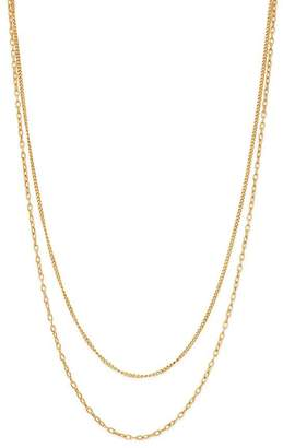Chicco Zoë 14K Yellow Gold Double Chain Necklace, 20""