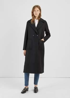Harris Wharf London Wool Duster Coat Black