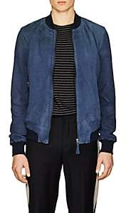 Barneys New York Lot 78 x LOT 78 X MEN'S SUEDE BOMBER JACKET-BLUE SIZE 48