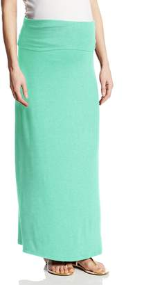 Three Seasons Maternity Women's Maternity Long Solid Skirt