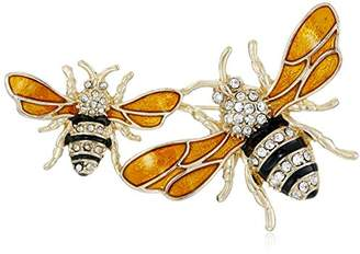 """Napier """"Classics Boxed Tone and Yellow Bee Brooch Pin"""