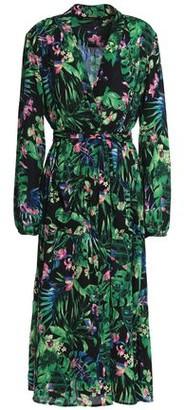 Walter W118 By Baker Faith Floral-Print Crepe De Chine Midi Wrap Dress