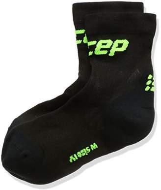 CEP (シーイーピー レディース ウルトラライトショートソックス レース WP4B-U ブラック/グリーン 2