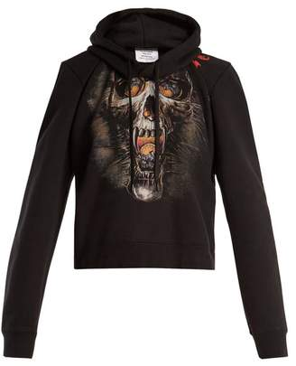 Vetements Misplaced Shoulder Skull Print Sweatshirt - Womens - Black Print