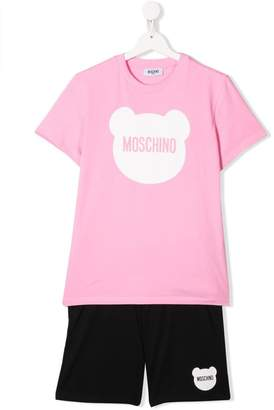 e19e37229 Moschino Kids TEEN logo print t-shirt and shorts set