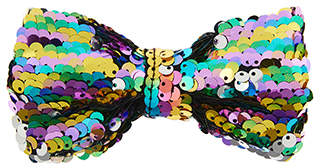 Monsoon Rainbow Sequin Bow Hair Clip