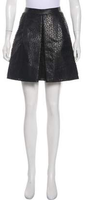 Akris Laser-Cut Leather Skirt