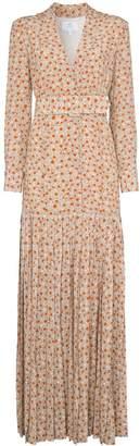 Rebecca De Ravenel daisy print silk maxi dress