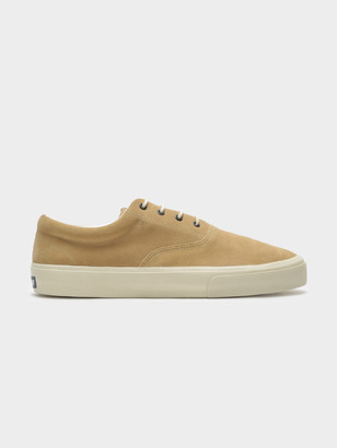 caf55e4e2 Sebago Docksides John Suede Plimsoll Sneakers in Beige Camel