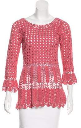 Alberta Ferretti Long Sleeve Knit Top