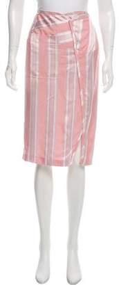 Acne Studios Striped Knee-Length Skirt