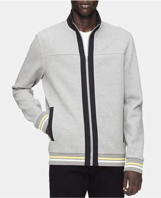 Calvin Klein Men's Full-Zip Striped Sweater
