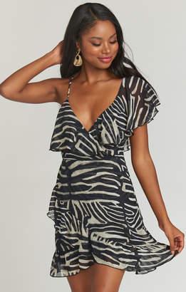 Show Me Your Mumu Santanita Mini Dress ~ Zebra King