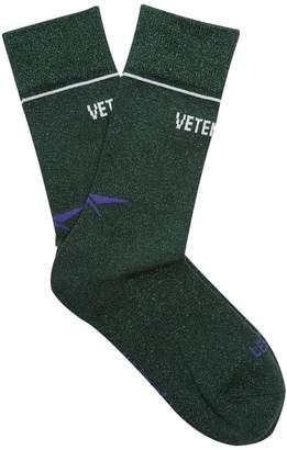 Vetements X Reebok Edition Classic glitter socks