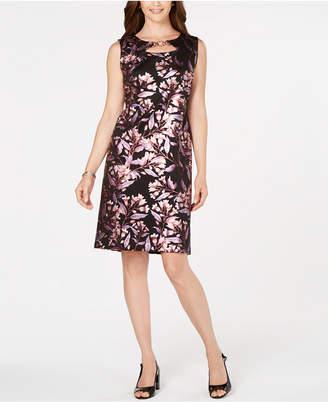JM Collection Metallic-Foil Sheath Dress, Created for Macy's
